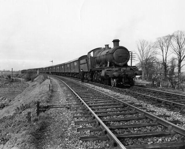 Seen here passing through Princes Risborough  2-6-0, 43xx class locomotive, built 1913