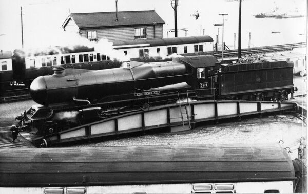 4-6-0 King class locomotive. Built 1928. Seen here in streamlined form