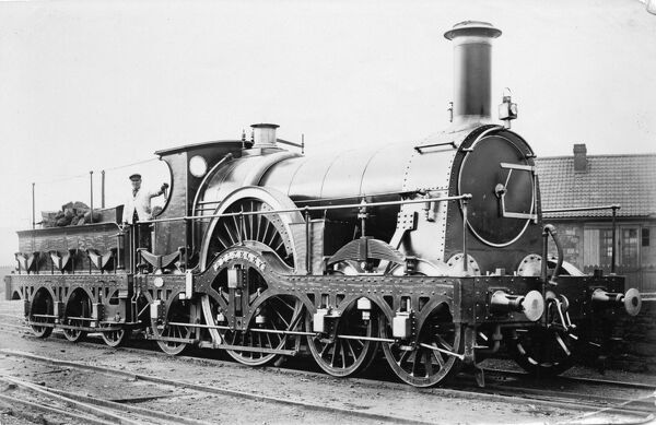 4-2-2 broad gauge locomotive built 1865. Rover class