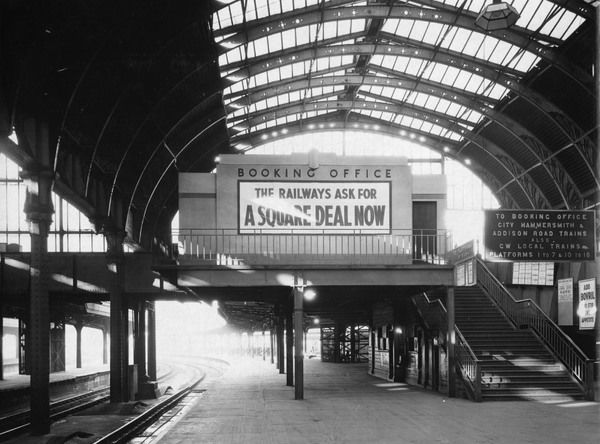 A newly opened Booking Office at Paddington Station. Note the Art Deco appearance of the office in comparison with the Victorian roof spans of the Station