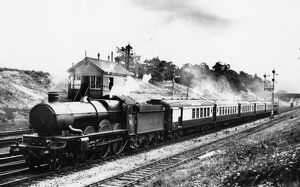 No 4095, Harlech Castle, pulling the Torquay Pullman past Twyford, 1930