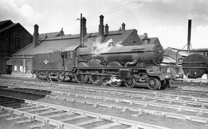 No 5002 Ludlow Castle outside Swindon Works, 1962