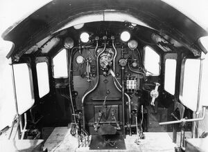 Cab of a Castle Class locomotive