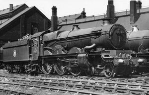 Castle Class locomotive, No. 7037, Swindon at Swindon, 1958