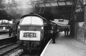 Class 52 Western Diesel Locomotive at Paddington Station