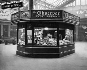 Confectionary Kiosk, Paddington Station, 1937