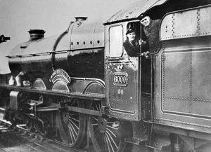 Driver and Fireman on King George V's footplate, 1950