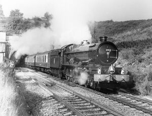 King George V hauling an express train
