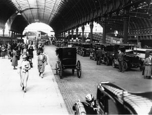 Taxi Rank at Paddington Station, 1934