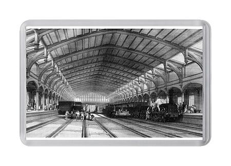 Bristol Station. Bourne lithograph of Bristol Station