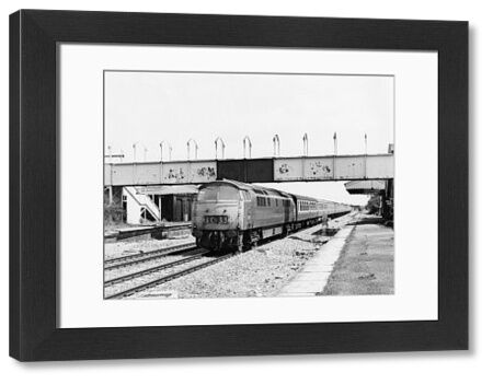 Class 52 locomotive. Seen here passing Badminton Station with the 11.15am Paddington to Cardiff train, 13th May 1976
