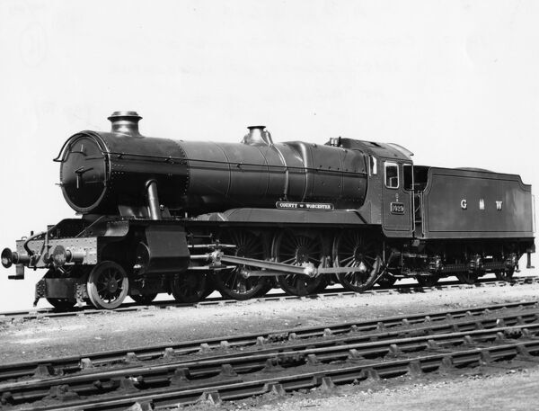 GWR 4-6-0 locomotive no. 1029 County of Worcester, built in 1947, withdrawn 1962