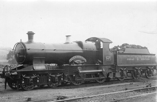 No 3471 Queensland. 4-4-0 Bulldog class locomotive. Built 1904