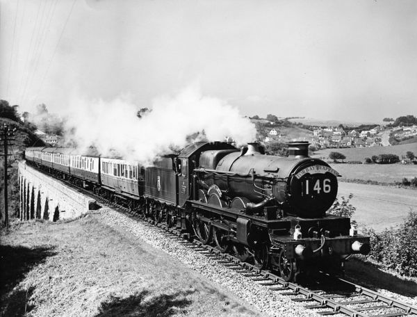 4-6-0 Castle class locomotive. Built 1949. Seen here hauling the Torbay Express
