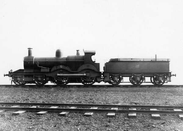 No 8 Gooch. 4-4-0 Armstrong class locomotive, built 1884. Later renumbered 4172