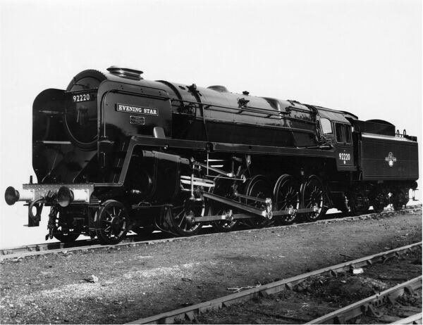 2-10-0 9F class locomotive, built 1960. Evening Star was the last mainline British Railways steam locomotive to be built in Britain at Swindon Works.  Withdrawn 1965