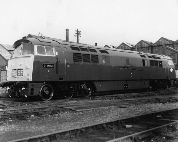 Class 52 locomotive seen here outside Swindon Works