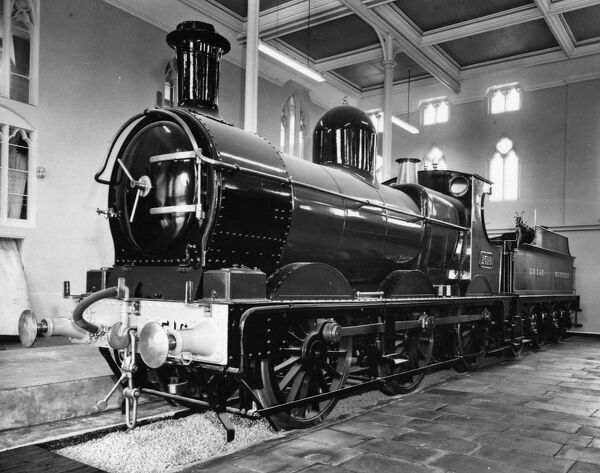 0-6-0 Dean Goods tender locomotive no 2516, built 1897. Pictured in preservation at the former Swindon Railway Museum, now STEAM Museum of the Great Western Railway where no 2516 is on display