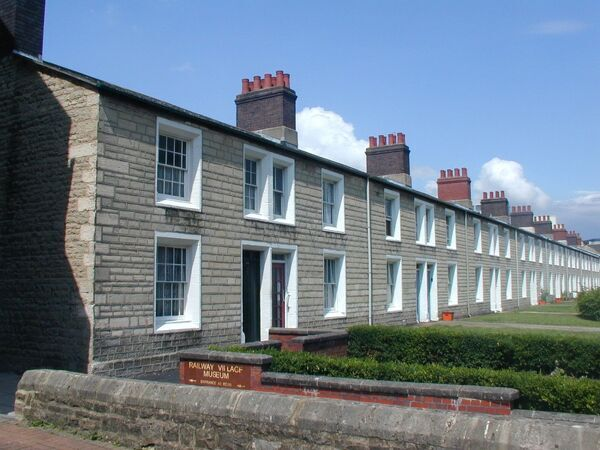 This row of cottages was built in 1846. The cottage in the foreground is No. 34 - now the Railway Village Museum