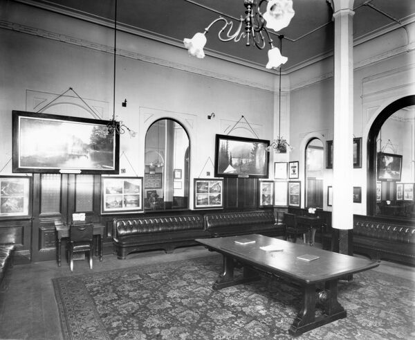 First Class passengers were able to wait for their trains in the comfort of this waiting room. The room is quite luxurious with leather seats, mirrors and writing desks