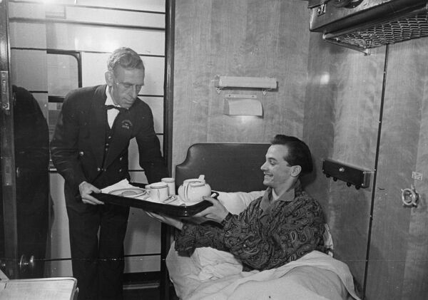 Third Class sleeper compartment, c.1940s