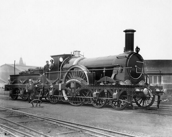 Inkermann, c1880s. 4-2-2, Rover class locomotive, Built 1878 and withdrawn 1892