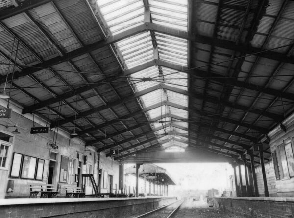 Shows the overall roof designed by Isambard Kingdom Brunel's assistant J R Hannaford