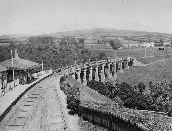 Brunel's old timber viaduct, prior to its replacement in 1892
