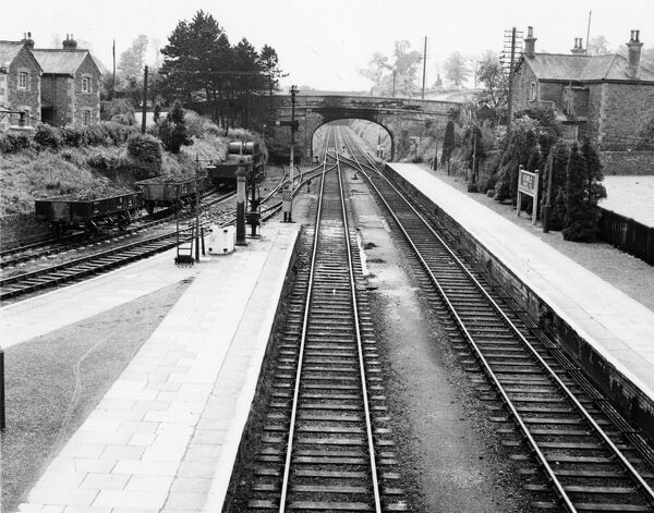 Junction of Cirencester Branch towards Swindon. Opened 1872, closed to goods 1967