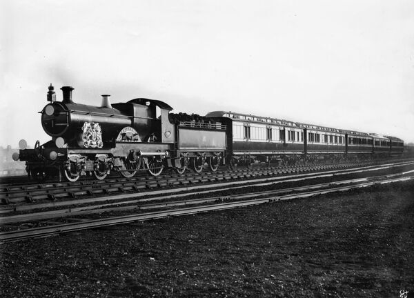 4-4-0 Atbara class locomotive. Built 1900. Named Britannia for Royal Trains between 7/3/1902 and 10/3/1902. Normal name Baden Powell
