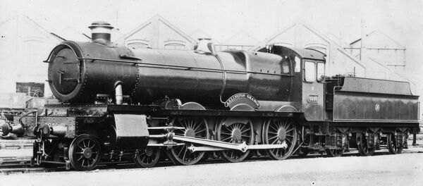 4-6-0 locomotive, built August 1936. Seen here at Swindon Works
