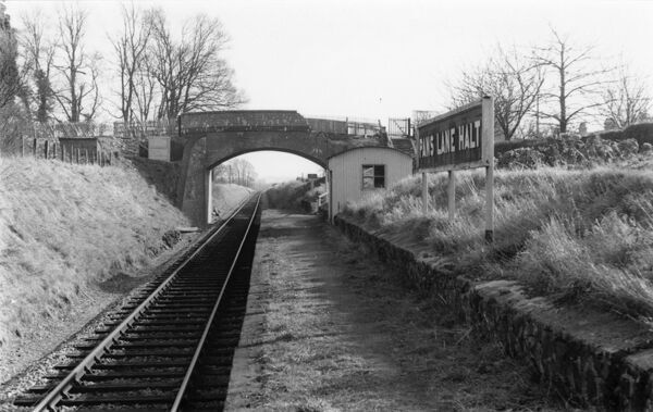 View looking East. Pans Lane Halt was on the Devizes branch line