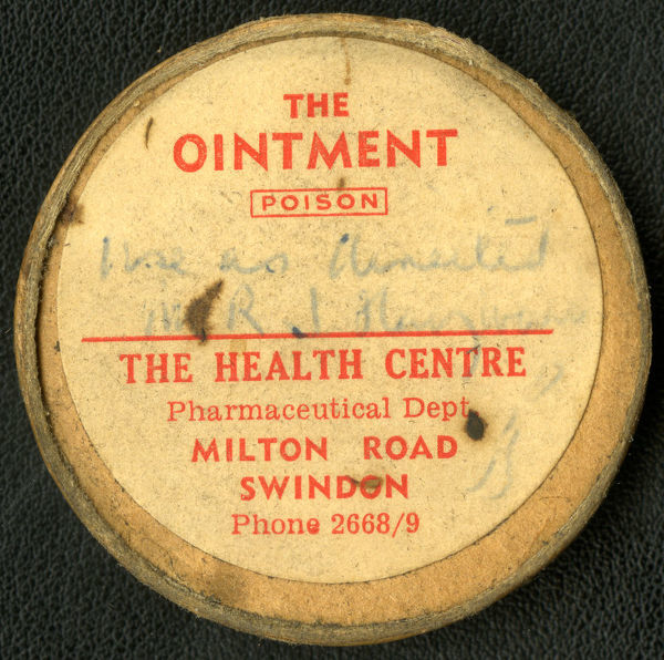 The GWR Medical Fund pharmacy prepared and dispensed all kinds of medications to patients, including this ointment marked ?Poison'