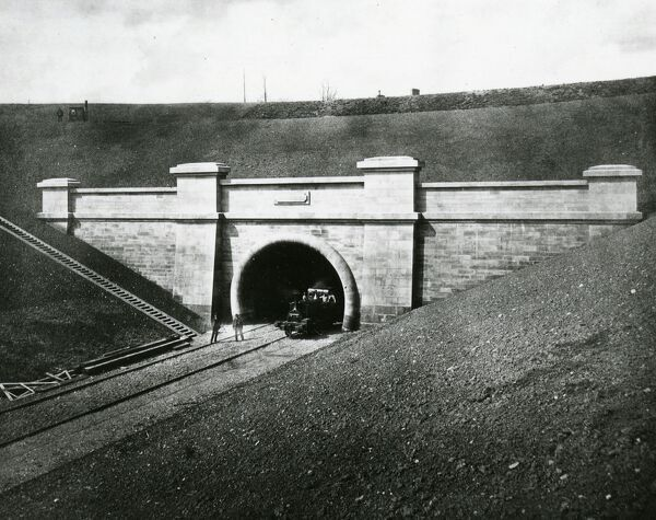 This image of the English portal of the tunnel was probably taken soon after it was completed
