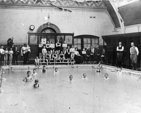 These baths were situated in the Medical Fund Society at Milton Road. The small bath, used mainly by women and children, was adjacent to the large bath