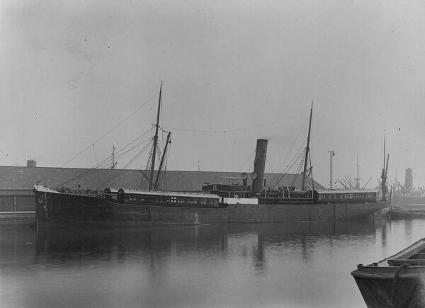 A British cargo ship used to transport GWR built ambulance carriages to France during WW1. It was sunk on 16th September 1915 by a German mine off the coast of Kent. The GWR crew accompanying the ship survived, but the carriages were lost