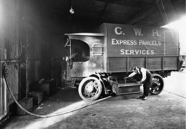 GWR battery powered Express Parcels lorry see here recharging