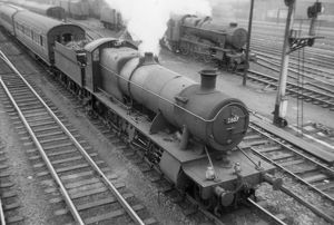 2800 class, 2-8-0, No 2807 at Cardiff, April 1959