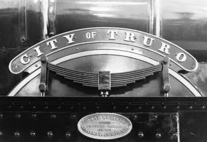 No 3440 City of Truro nameplate and build plate