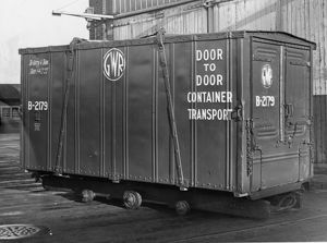 4 ton all steel door-to-door container, 1938