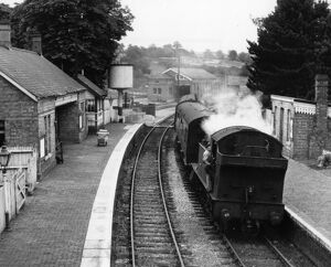 No 4573 Prairie Tank Locomotive at Chipping Norton Station, 1960