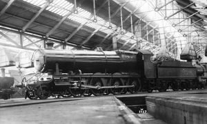 47xx class locomotive, No. 4702, seen here at an engine shed, possibly Old Oak Common