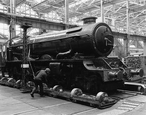 No 6000 King George V in Swindon Works