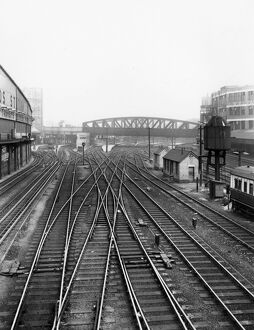 The approach to Paddington Station, c1940