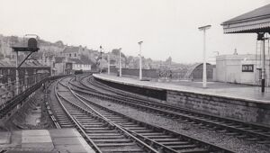 Bath Spa Station looking towards Bristol, c.1960