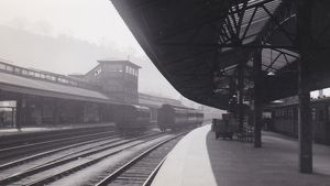 Bath Spa Station and Signal Box, c.1930s