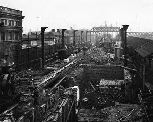 Birmingham Snow Hill (under construction), c1910