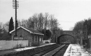 Bishops Lydeard Station in the snow, c.1960s
