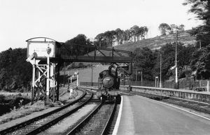 Bodmin Road Station water tower, 1954