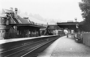 stations halts/gloucestershire stations brimscombe station/brimscombe station c1920